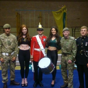 Ring Girls At Army Boxing