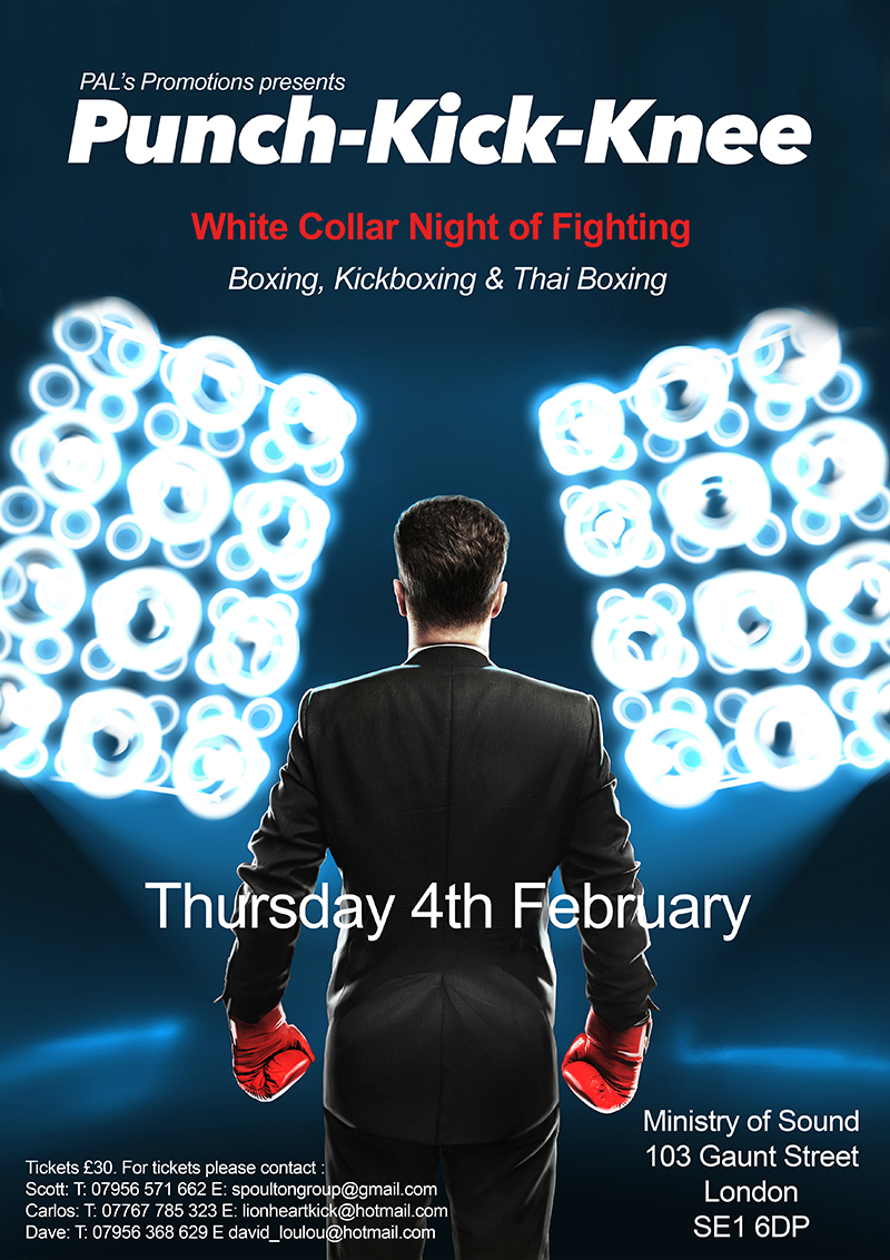 White Collar Night of Fighting – Ministry of Sound – 4th February 2016