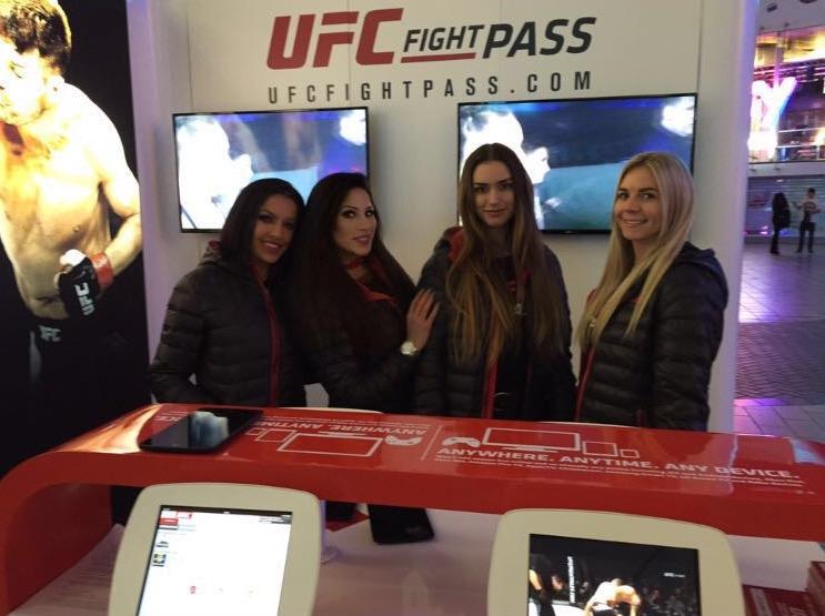 Promo Models – O2 Arena – UFC London – 27th Feb 2016
