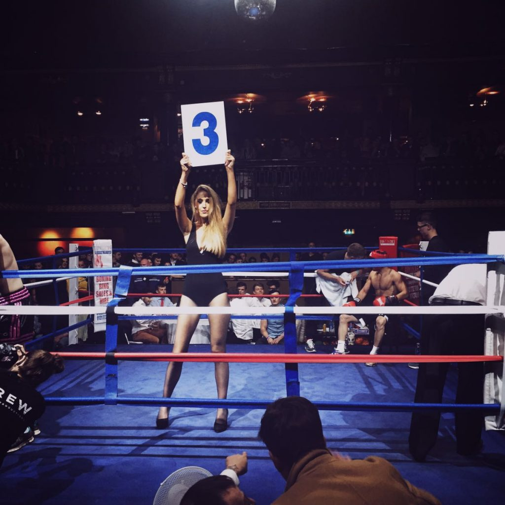Ring Girl – Manchester Fight Night – 02 Ritz – 26th April 2016