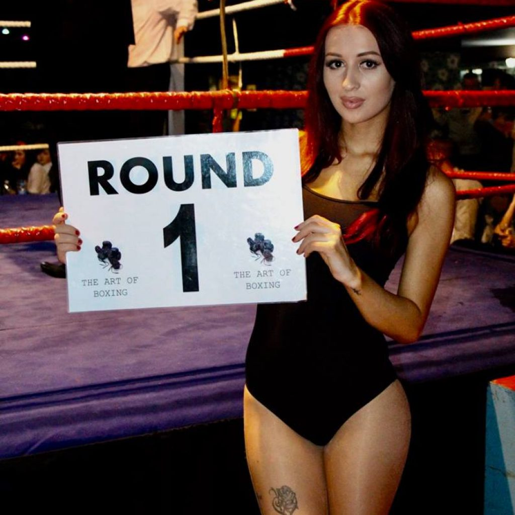 Ring Girl – Art of Boxing – White Collar Boxing – 11th December 2016