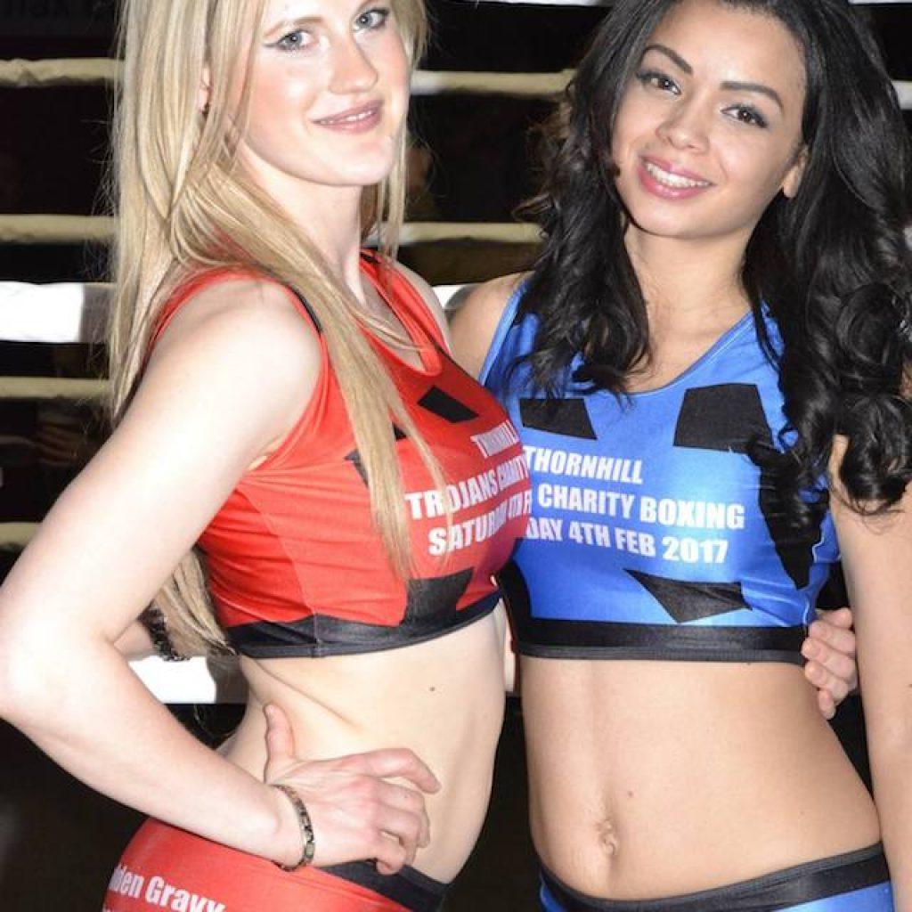 Ring Girls – Thornhill Trojans – Dewsbury – Charity Boxing – 4th Feb 2017