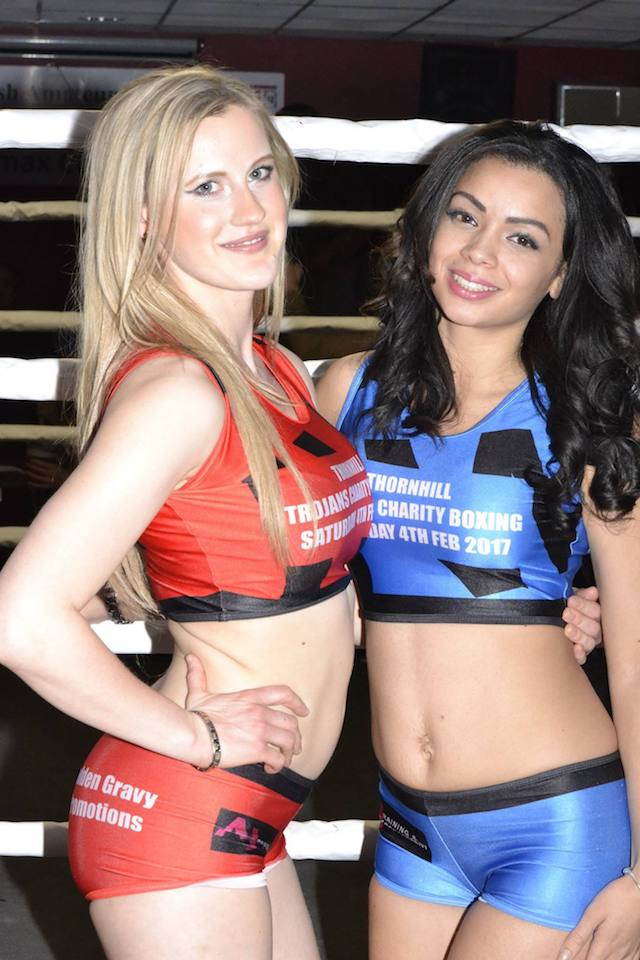 Ring Girls - Thornhill Trojans - Dewsbury - Charity Boxing - 4th Feb 2017