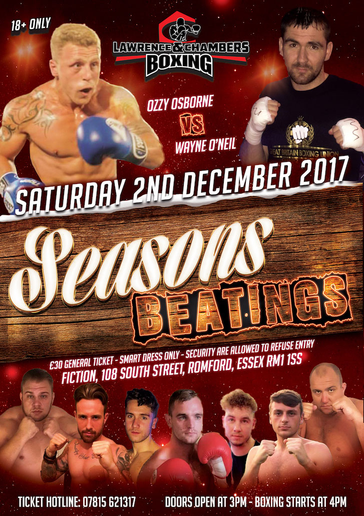 Coming Soon – LCB Promotions – Essex – Saturday 2nd December