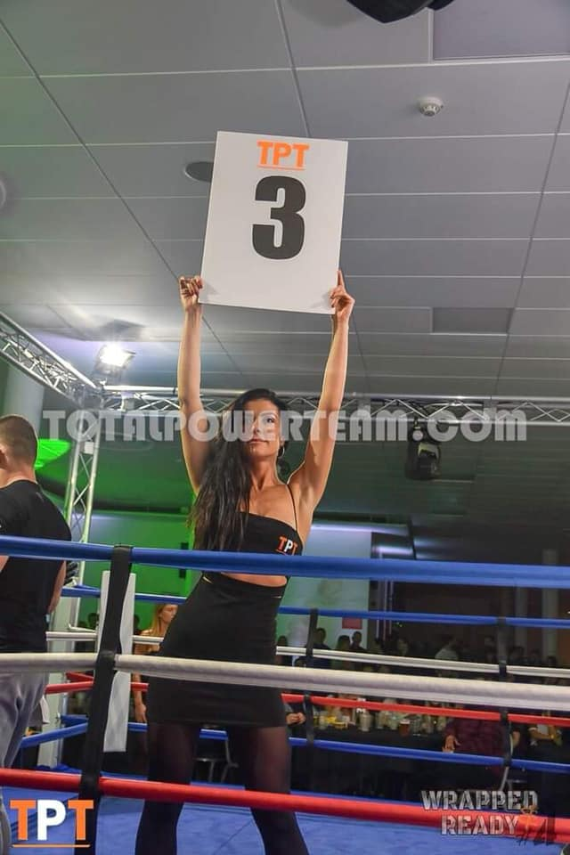 Ring Girl – Total Power Team – The Stoop – 27th April 2019